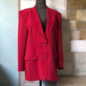 Red Silk Blazer